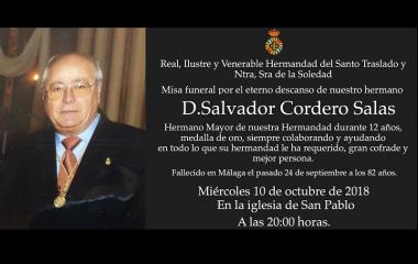 Misa por Salvador Cordero Salas